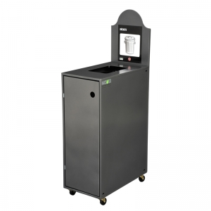 Station de recyclage poubelle 1 compartiment 1 stream recycling station bin Nova Mobilier Modulo-901