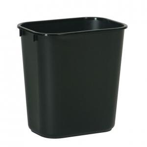 Corbeille poubelle bureau deskside recycling bin waste basket Nova Mobilier KA2818-BLK
