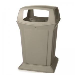 Poubelle contenant plastique RU9173 beige bin container receptacle Nova Mobilier
