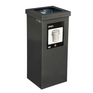 Station de recyclage poubelle 1 compartiment 1 stream recycling station bin Nova Mobilier nova65 1 1 web