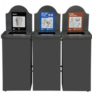 station d chets recyclage 3 voies nova65 3 nova mobilier. Black Bedroom Furniture Sets. Home Design Ideas