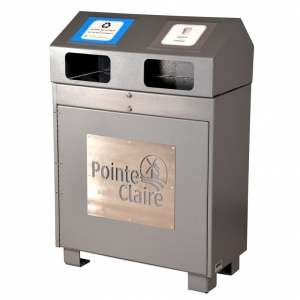 Station dechets recyclage poubelle waste recycling bin receptacle container duo al100 nova mobilier web 2