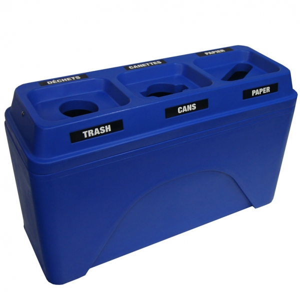 Poubelle station dechets recyclage recycling waste container bin receptacle bullseyes triplet 595 nova mobilier 1