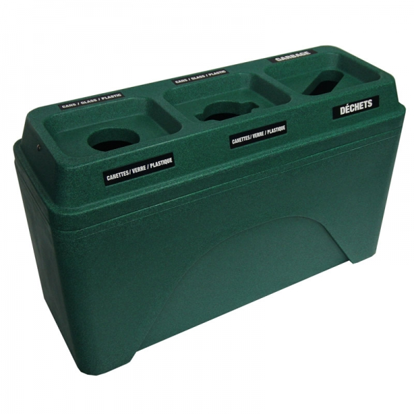 Poubelle station dechets recyclage recycling waste container bin receptacle bullseyes triplet 595 nova mobilier 3