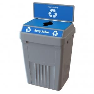 Station dechets dechets recyclable poubelle corbeille FlexE 1R bin receptacle Nova Mobilier web