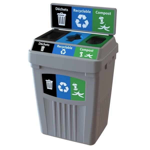 Station dechets recyclable consignées poubelle corbeille FlexE 3DRC bin receptacle Nova Mobilier web2
