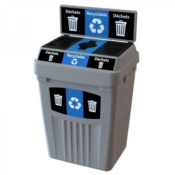 Station dechets recyclable dechets poubelle corbeille FlexE 3DRD bin receptacle Nova Mobilier web