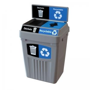 Station dechets recyclable poubelle corbeille FlexE 2D bin receptacle Nova Mobilier web