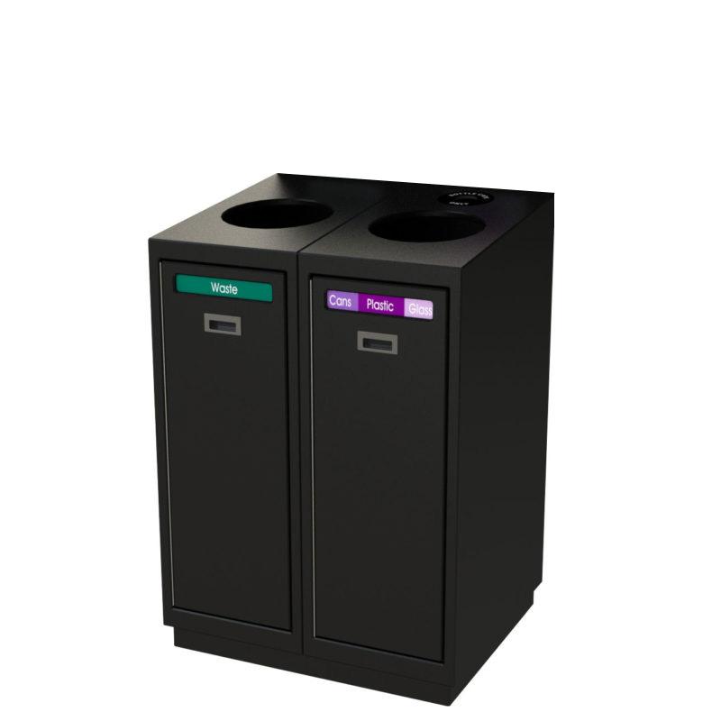 station de recyclage front loading chargement avant. Black Bedroom Furniture Sets. Home Design Ideas