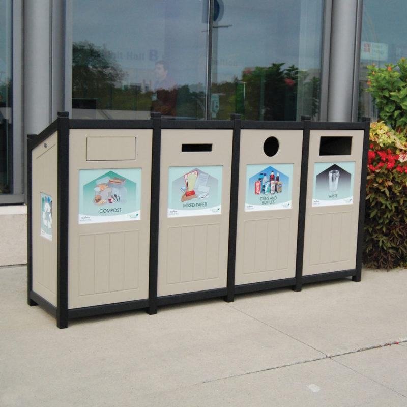 station de recyclage excel slant top nova mobilier. Black Bedroom Furniture Sets. Home Design Ideas