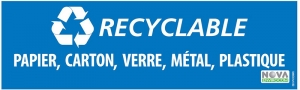 Lot de 2 affiches Recyclable