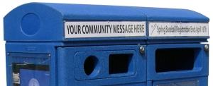 Panneau en Lexan clair, pour insertion de votre message