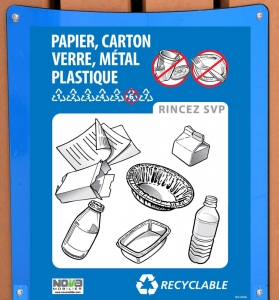 2 plaques d'aluminium et affiche Recyclable de 20.3 x 25.4 cm