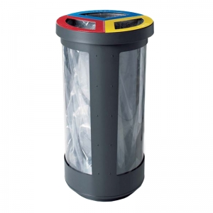 TRI-BIN 3 streams of 40 liters each, with Security option, #M34-67630